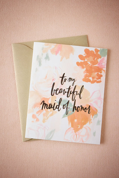 Hanky Panky Maid of Honor Beautiful Bridal Party Cards | BHLDN
