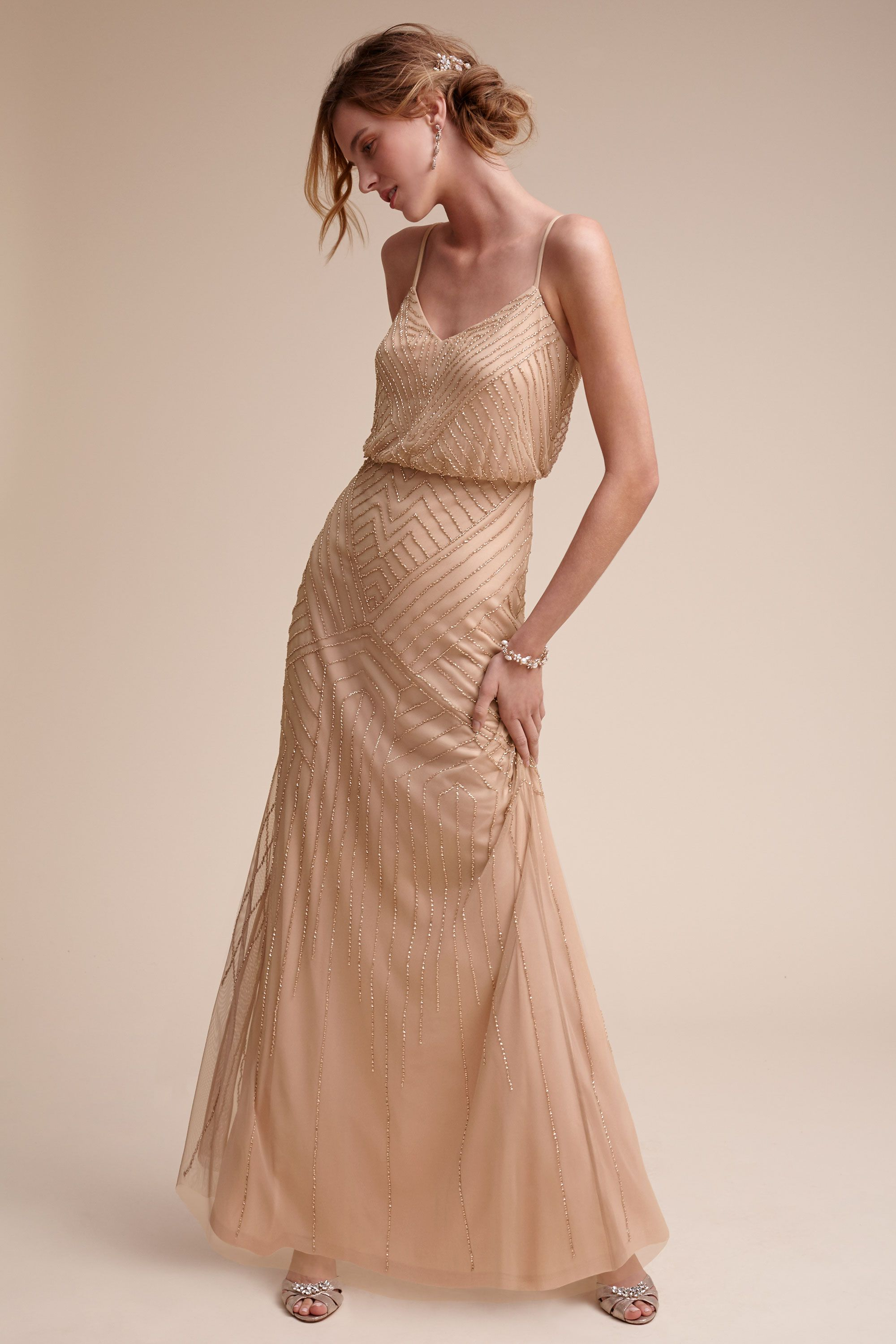 5a6a42a1053 Vintage Rose Gold Bridesmaid Dresses