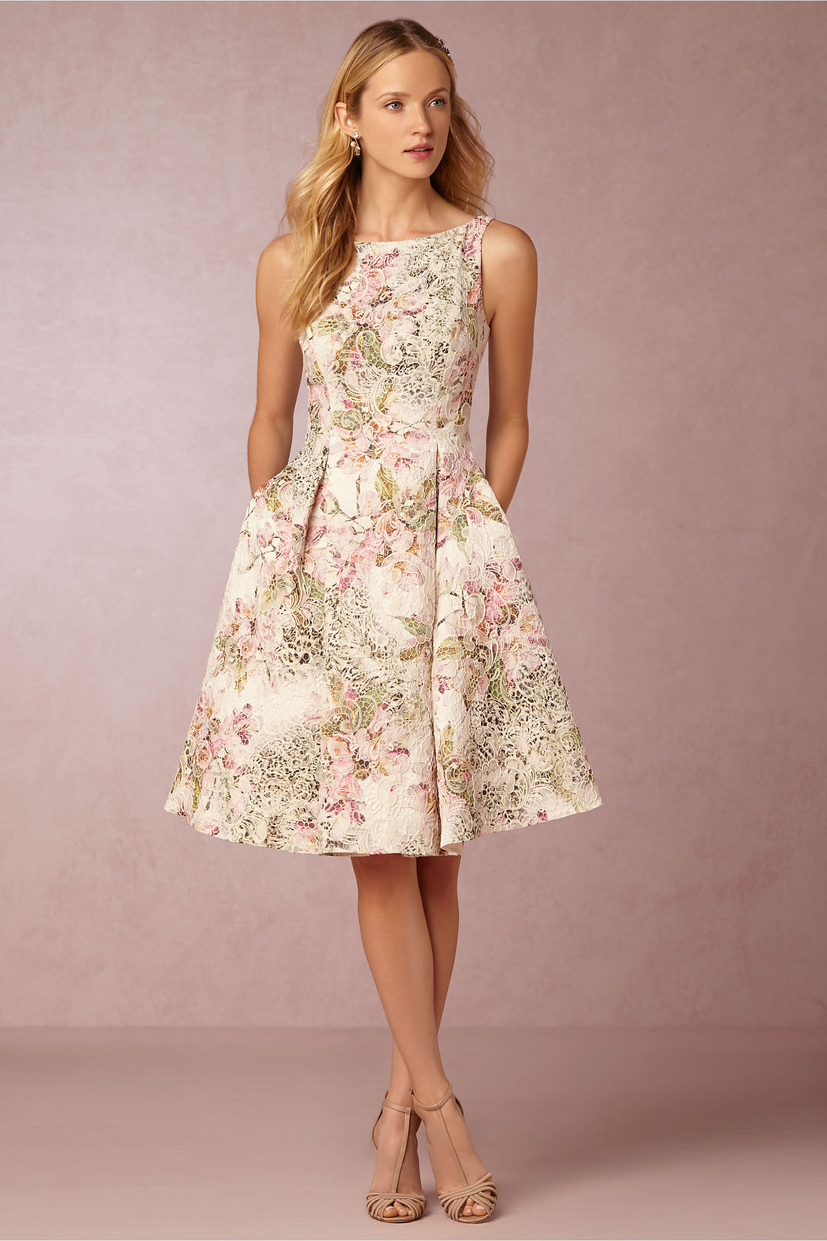 Adrianna Papell Multi Gardenia Dress