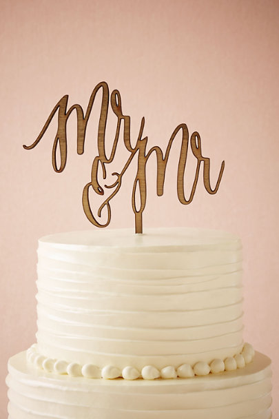 Host and Toast MR/MR Scripted Cake Topper | BHLDN