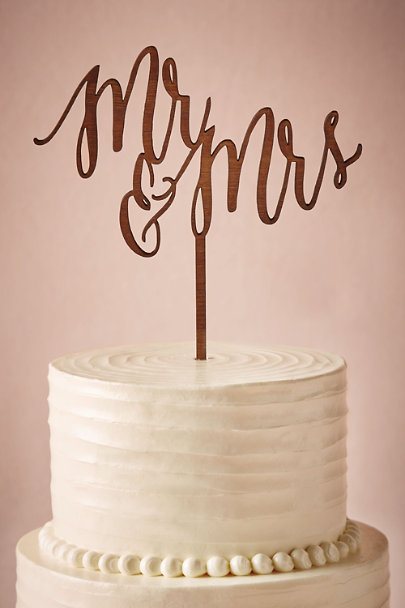 Host and Toast Mr/Mrs Scripted Cake Topper | BHLDN