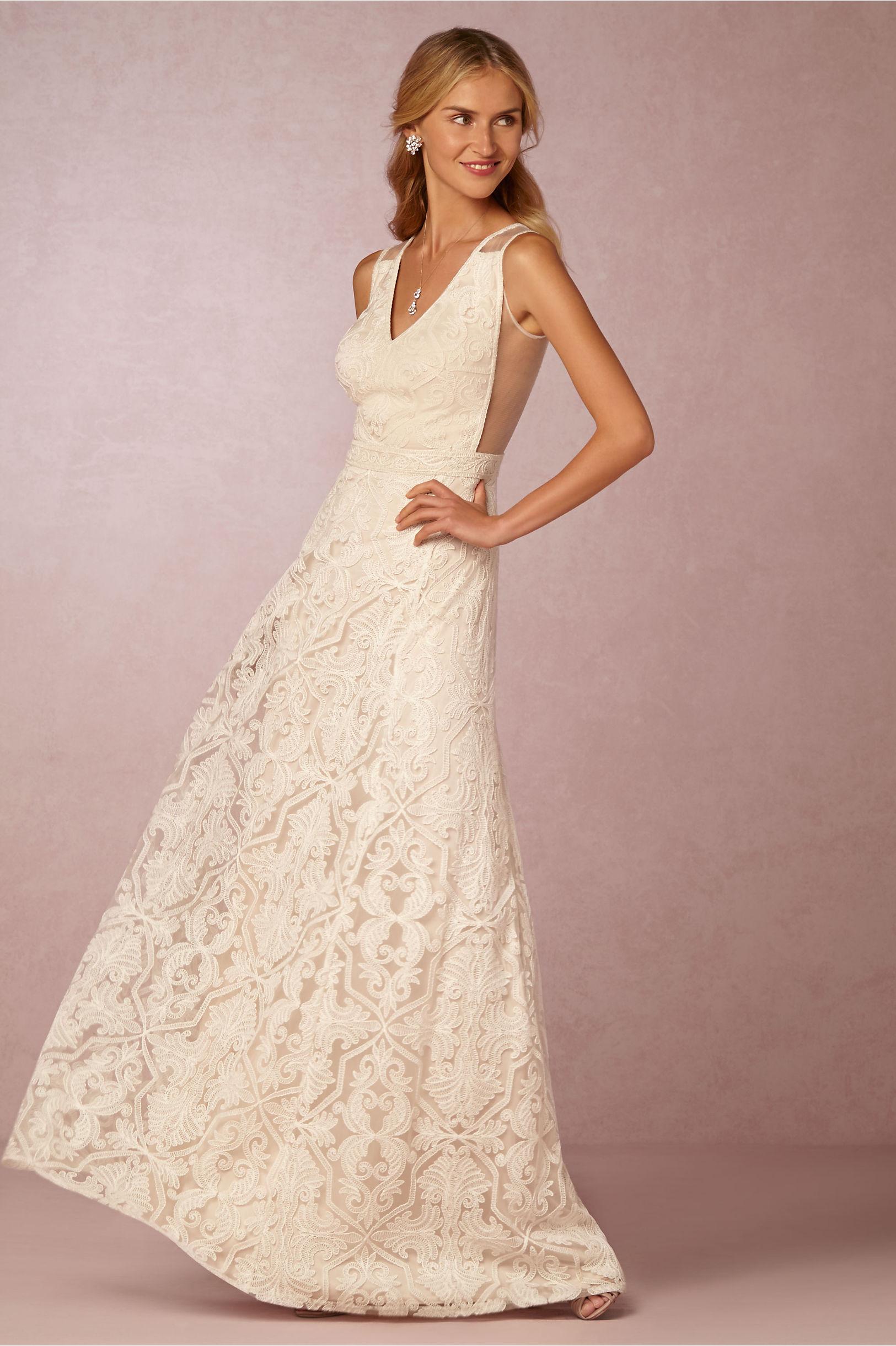 Superb Tadashi Shoji Ivory/Petal Pendleton Gown | BHLDN