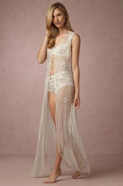 Zelda beaded robe in bride bhldn for Bra for wedding dress shopping