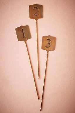 Stamped Metal Table Numbers