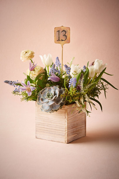 Antique Brass Stamped Metal Table Numbers | BHLDN