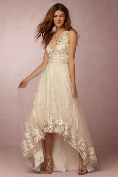 Marchesa Notte Ivory Opal Gown | BHLDN