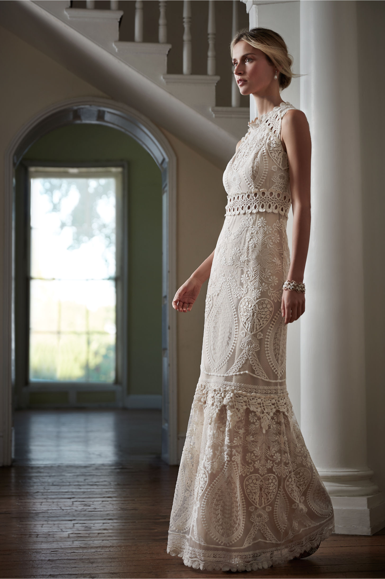 Anna Sui Ivory Roane Gown