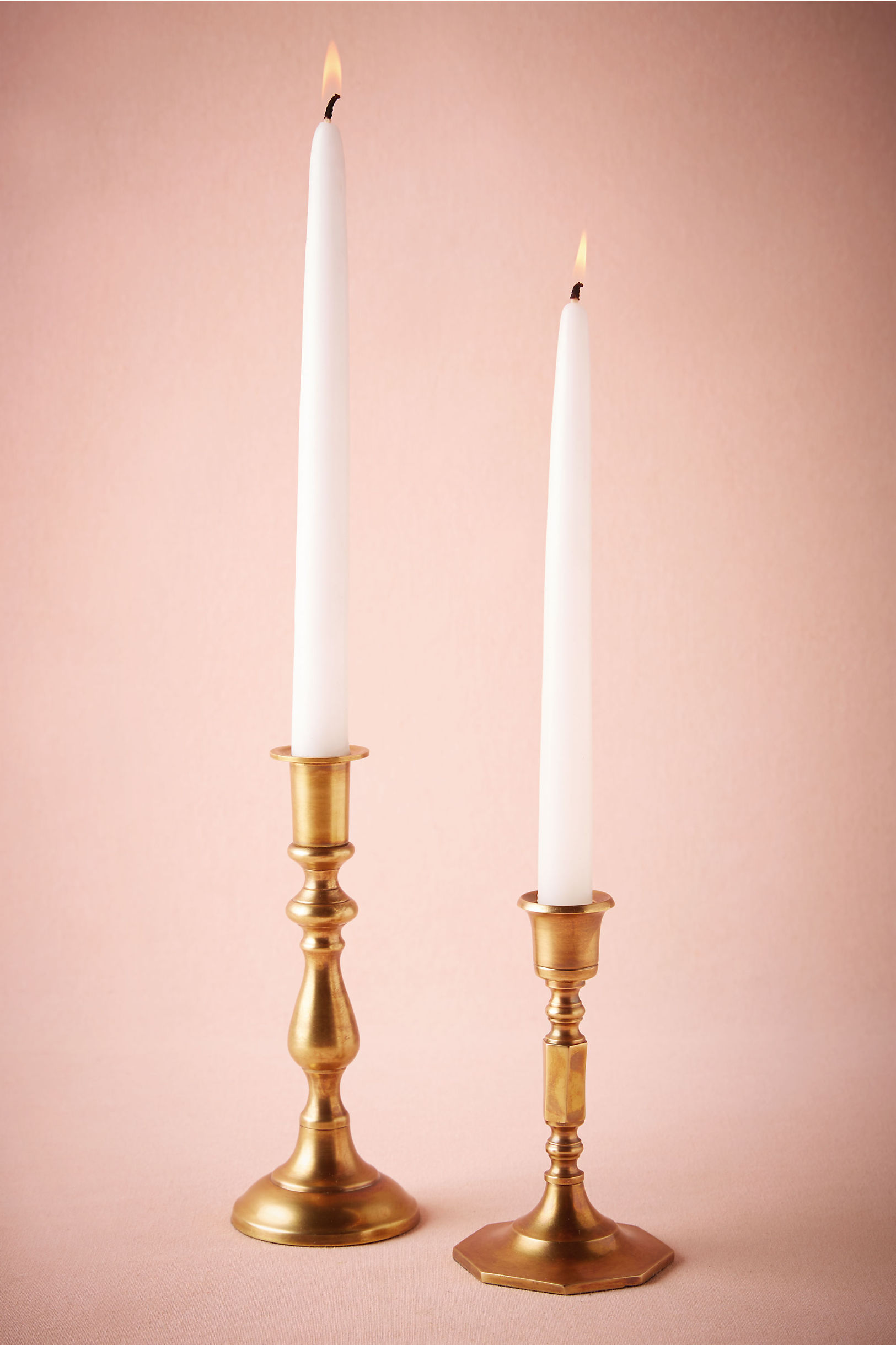 Unique wedding decorations and decor bhldn turned brass candlesticks amipublicfo Images