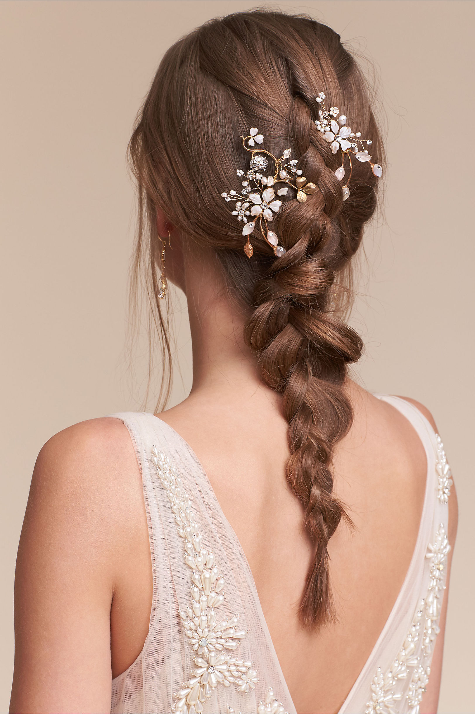 winter garden hair combs gold in bride | bhldn