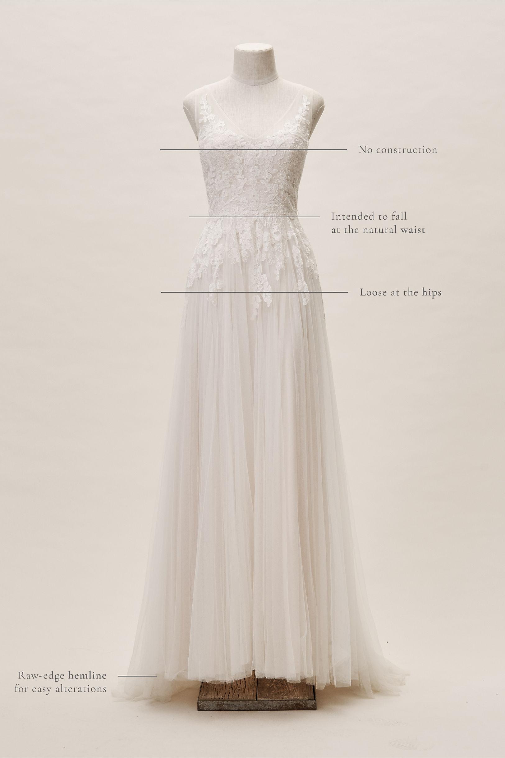 Reagan Gown Porcelain in Bride | BHLDN
