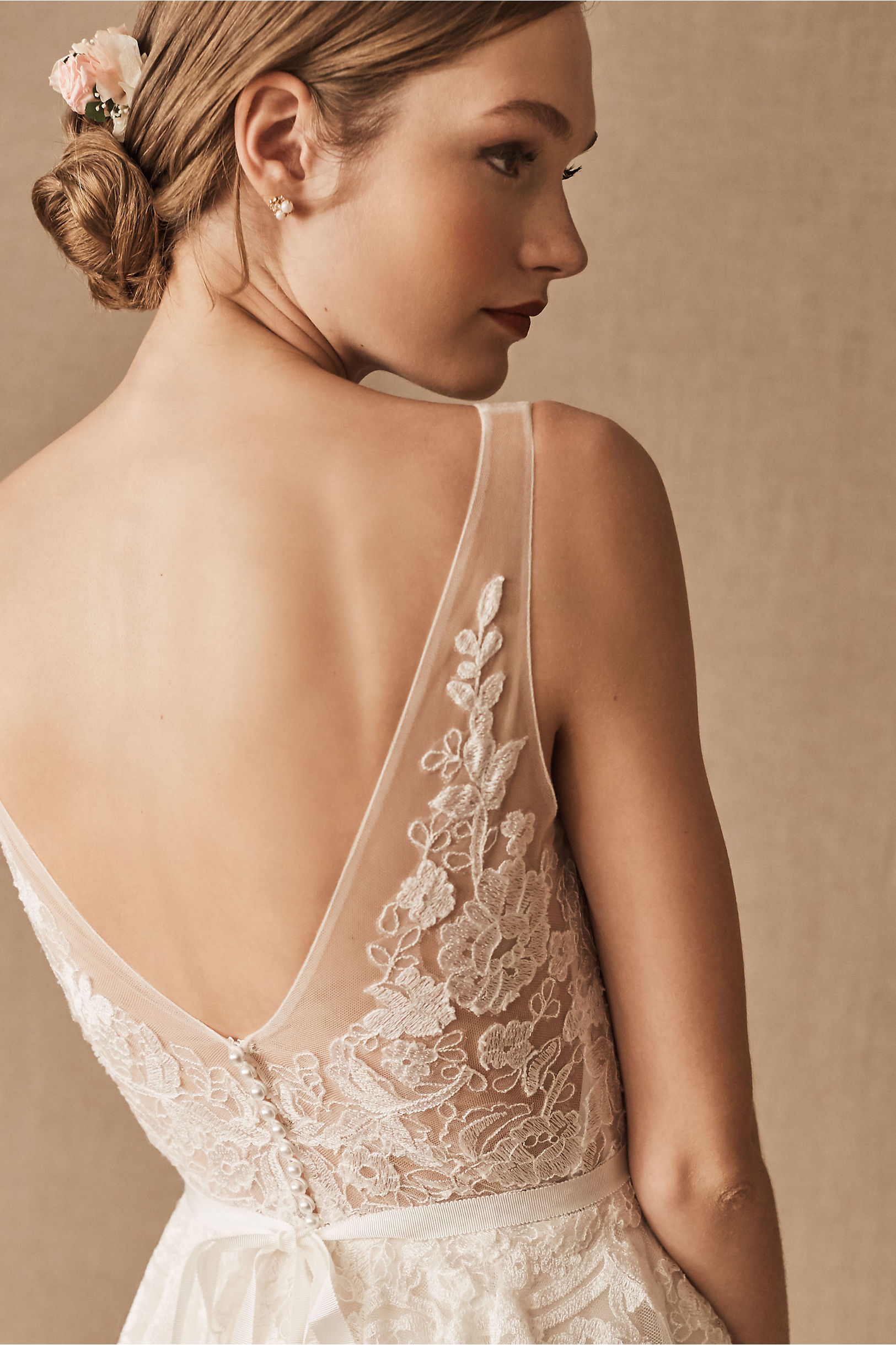 Reagan Gown Porcelain in Bride | BHLDN