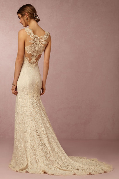 Watters Oatmeal Petra Gown | BHLDN