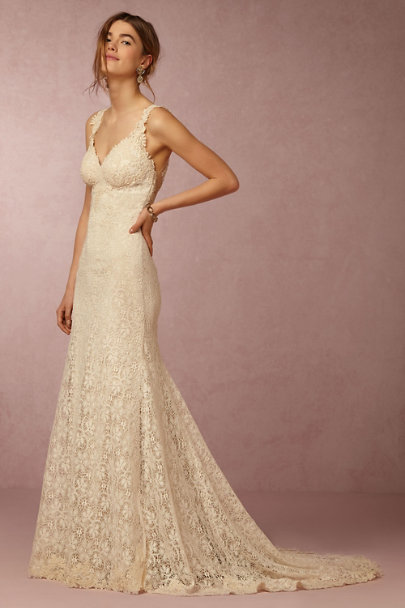 Watters Oatmeal Petra Gown Bhldn
