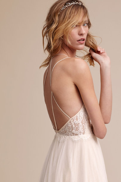 Watters Almond Rosalind Gown | BHLDN