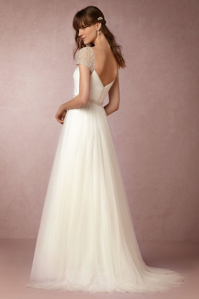 Watters Ivory Reed Gown | BHLDN