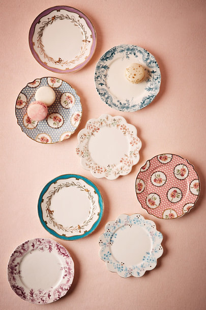 Multi English Tea Plates (8) | BHLDN