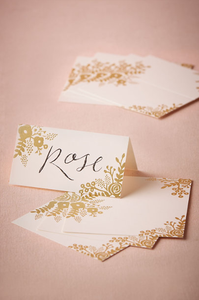 Rifle Paper Co. Gold Gilded Garden Place Cards (8) | BHLDN