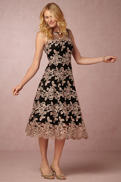 Hitherto Black/Rose Multi Tonya Dress | BHLDN