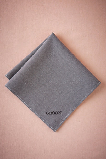 Grey Groom Kerchief | BHLDN