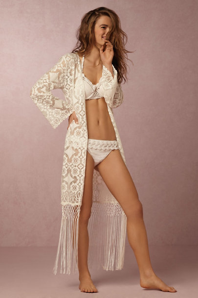 Anna Kosturova White Crochet Hook Bikini Bottom | BHLDN
