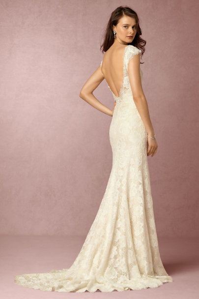 Eddy K Cream Amalia Gown | BHLDN