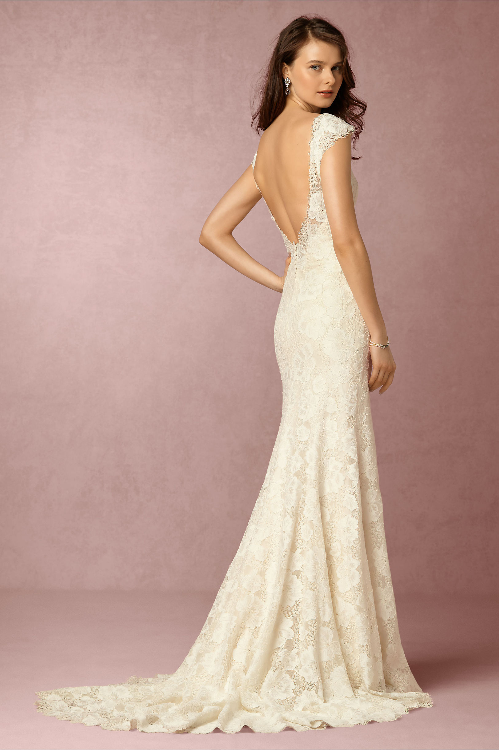 Eddy K Cream Amalia Gown Bhldn