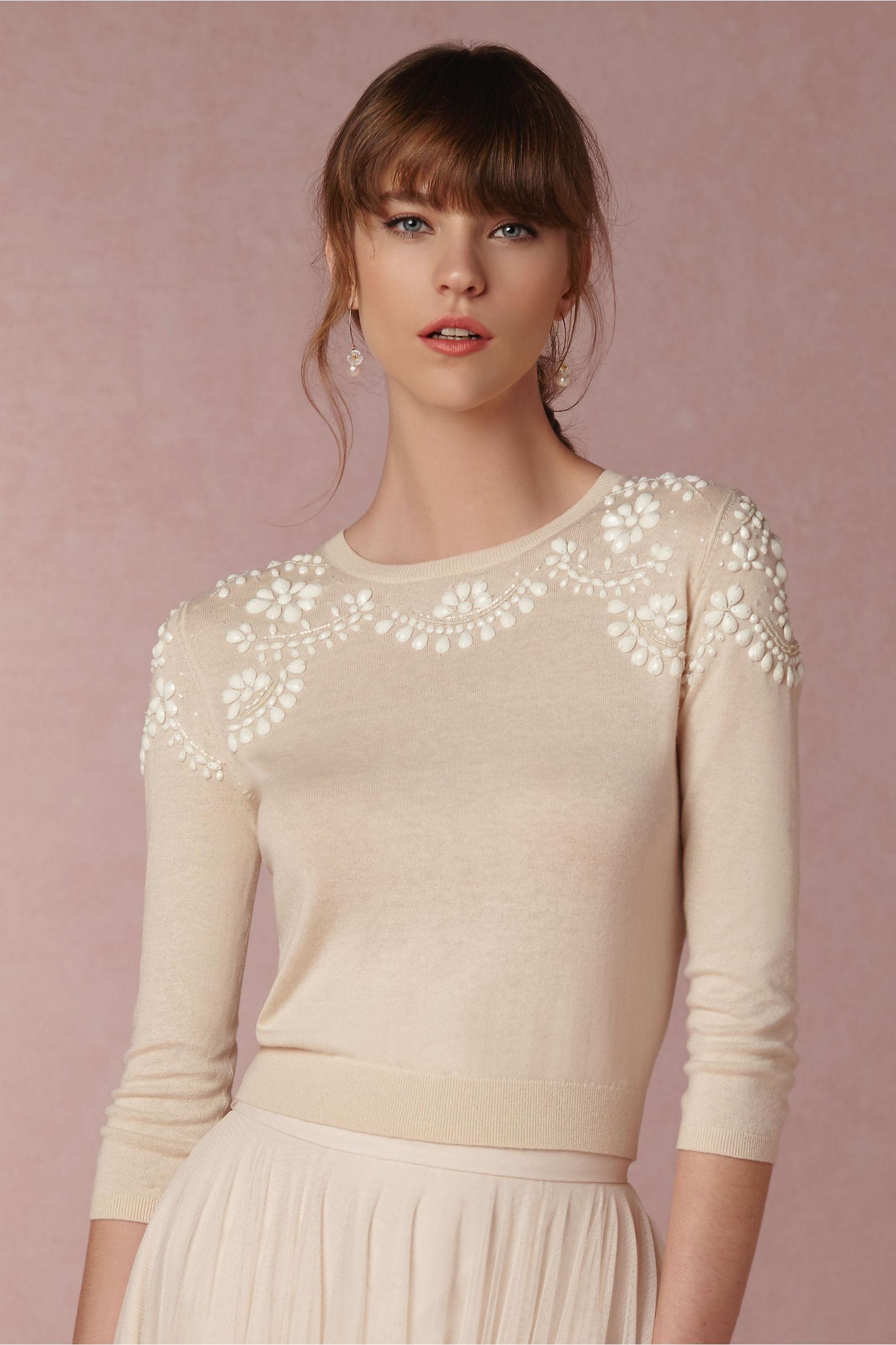 Jenny Yoo Soft Pink Millie Sweater | BHLDN
