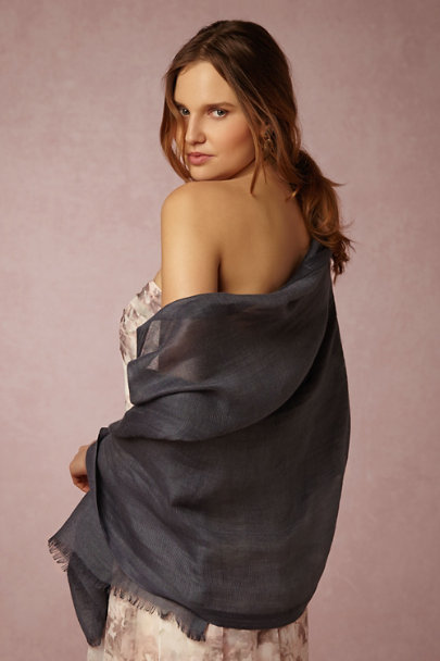 Love Quotes Charcoal Carlotta Wrap | BHLDN
