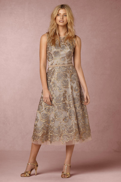 Hitherto Silver Floral Eleanor Dress | BHLDN