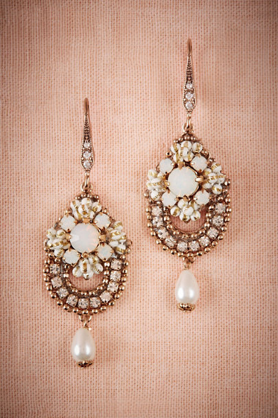 Theia Jewelry Gold Concertina Chandelier Earrings | BHLDN