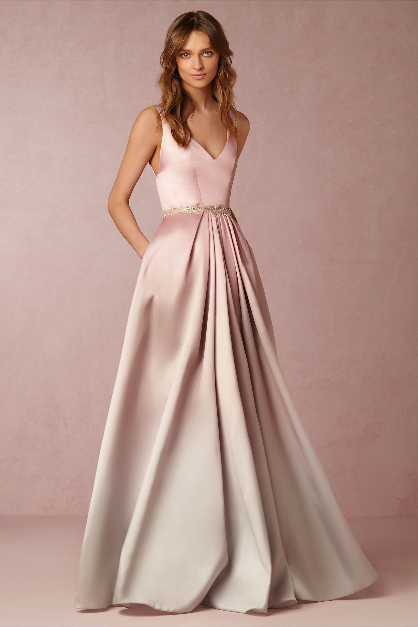 Blush Ombre Lorraine Dress Bhldn