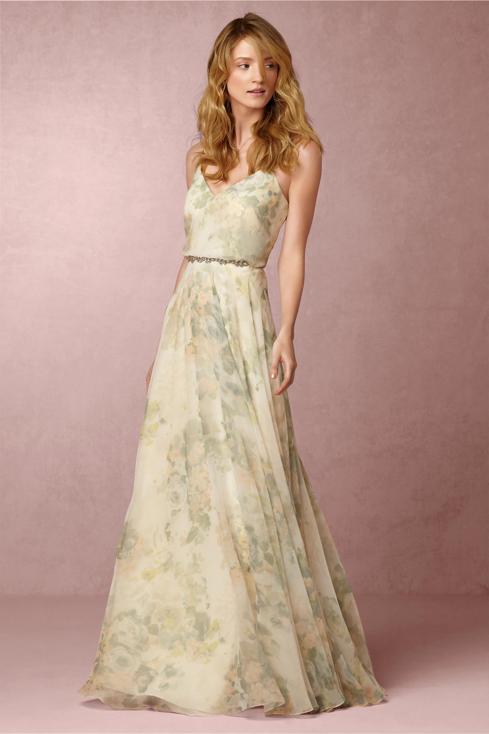 Inesse dress in sale bhldn jenny yoo ivory sage multi inesse dress bhldn ombrellifo Images