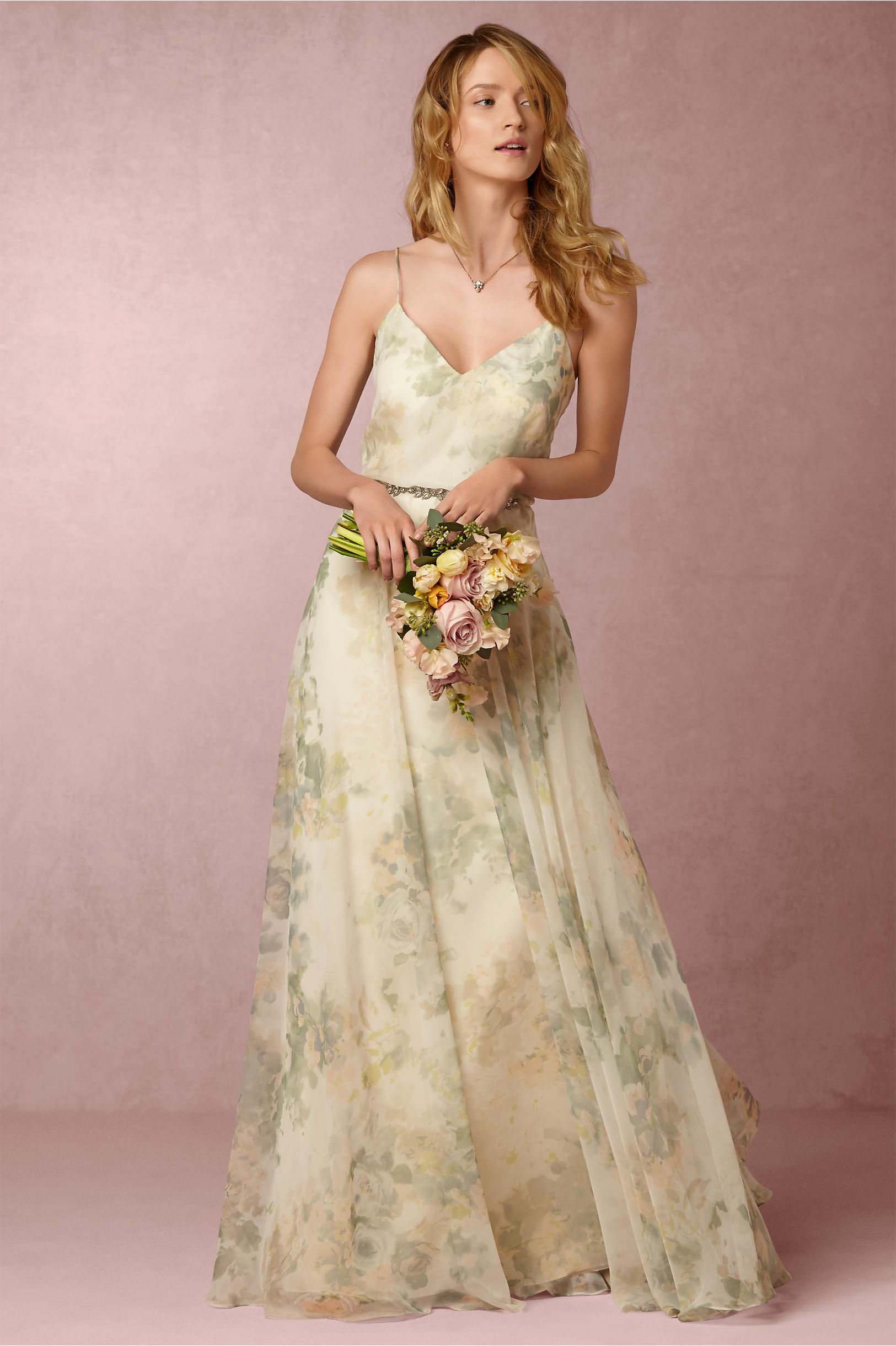 3e30454d1256 Jenny Yoo Ivory Sage Multi Inesse Dress | BHLDN