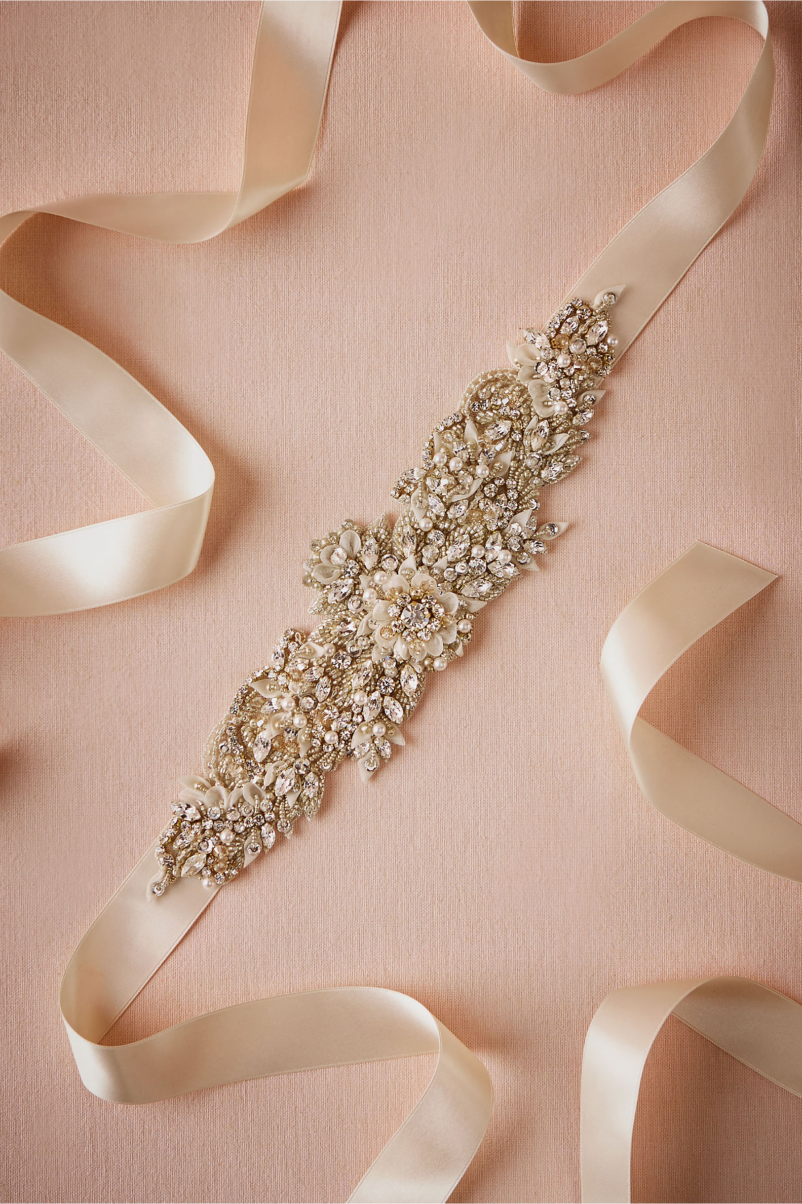 Le Champagne Sash Neutral in Bride | BHLDN