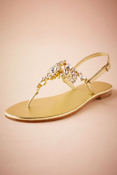 Musa Gold Luz Sandals | BHLDN