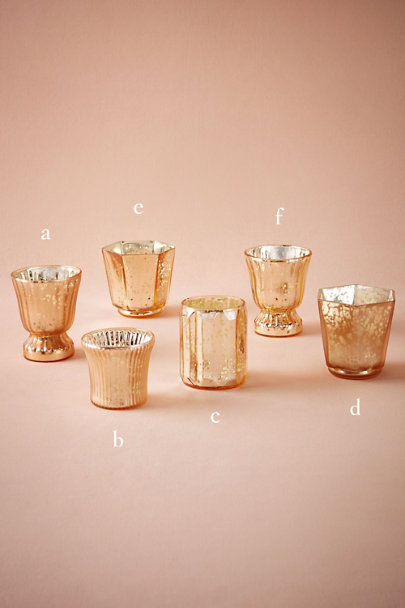 Matte Mauve Blushed Mercury Votives | BHLDN