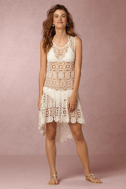 PilyQ Ivory Isla Crochet Dress | BHLDN