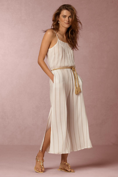 Neutral Motif Linework Jumpsuit | BHLDN