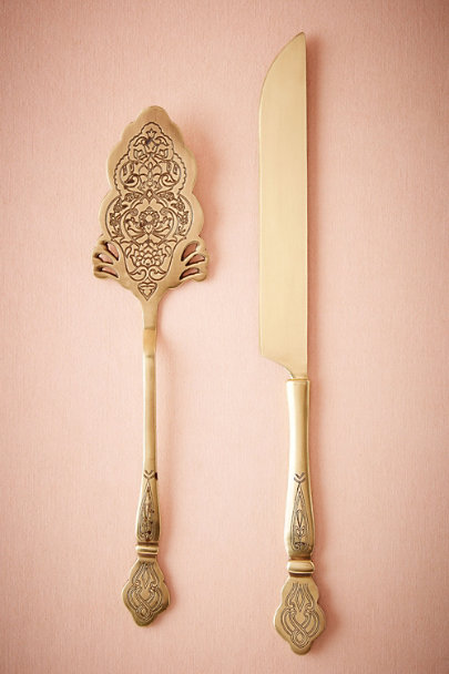 Gold Filigreed Serving Set | BHLDN