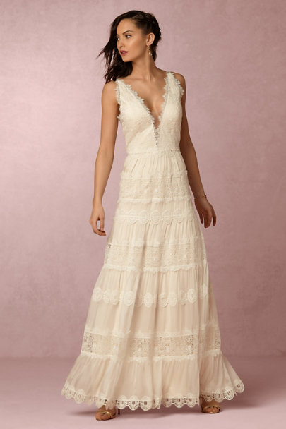 Catherine Deane Champagne Genevieve Gown | BHLDN