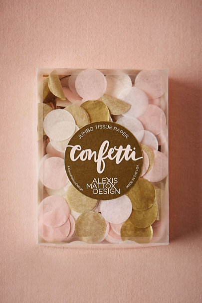 Alexis Mattox Blush + Gold Evening Soiree Confetti | BHLDN