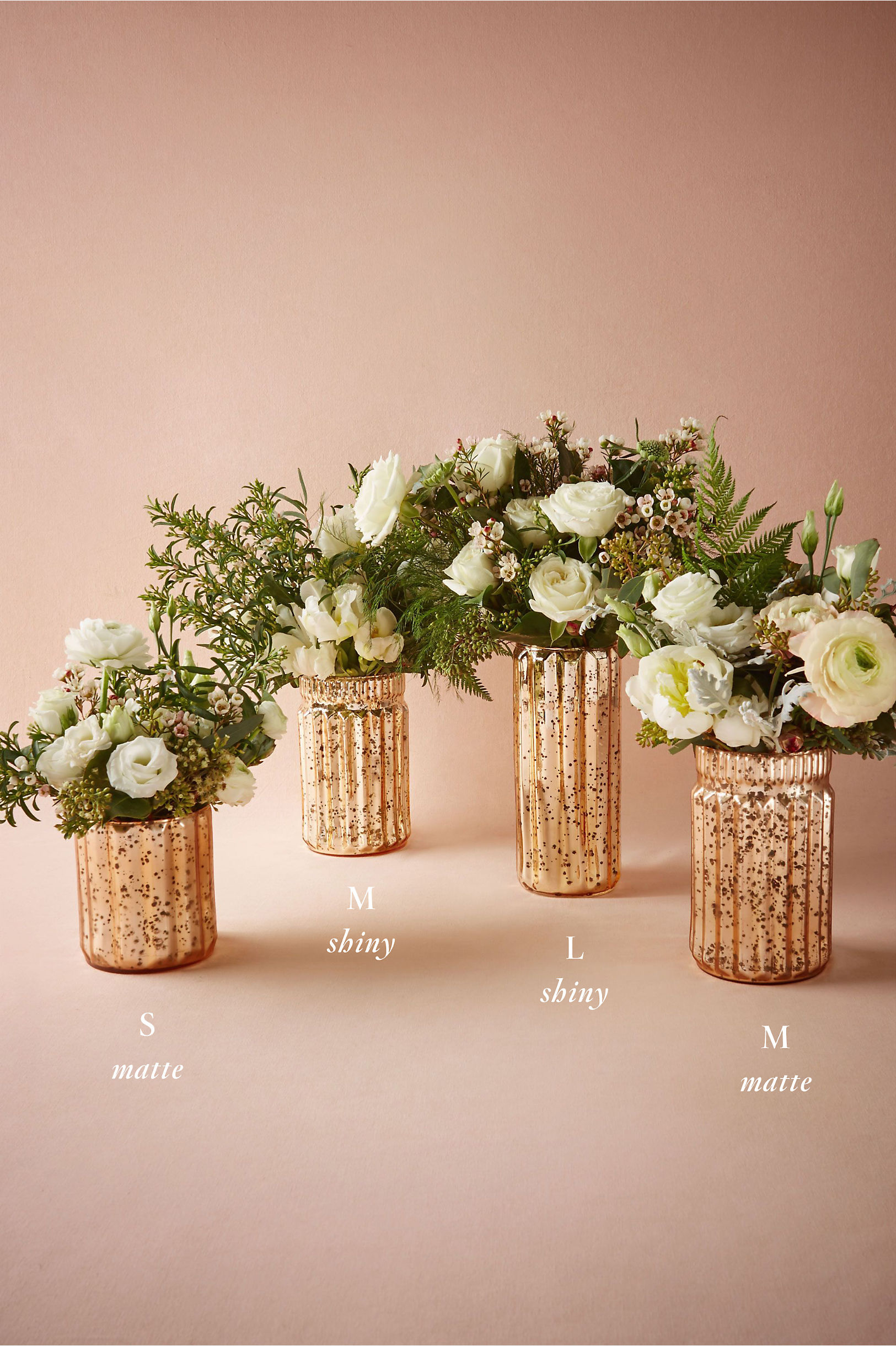 Fluted mercury vases gold in dcor gifts bhldn matte mauve blushed mercury vases bhldn reviewsmspy