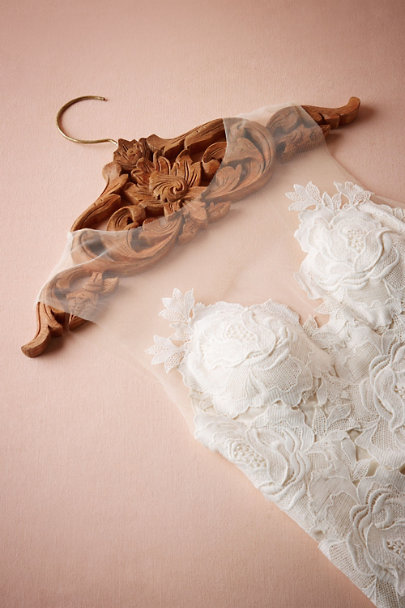 Natural Kirana Carved Wooden Hanger | BHLDN