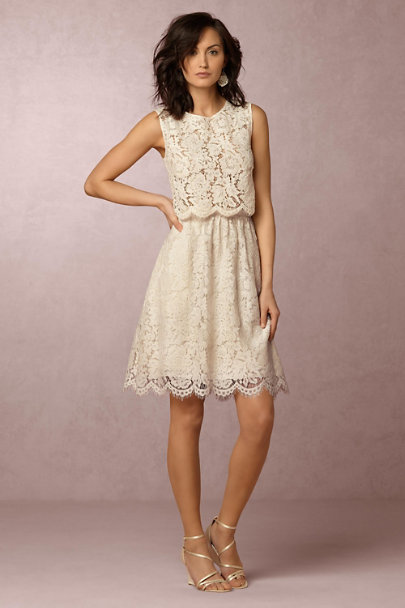 Jenny Yoo Ivory Lydia Lace Skirt | BHLDN