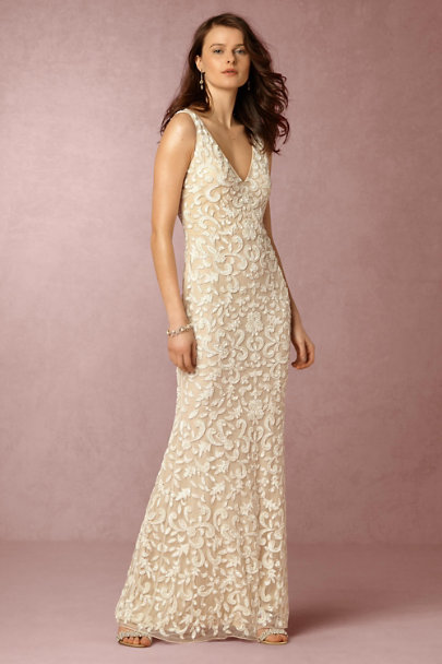 Lotus Threads Ivory/Nude Meghan Gown | BHLDN