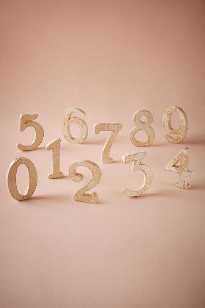 Gold Dressmaker Numbers | BHLDN