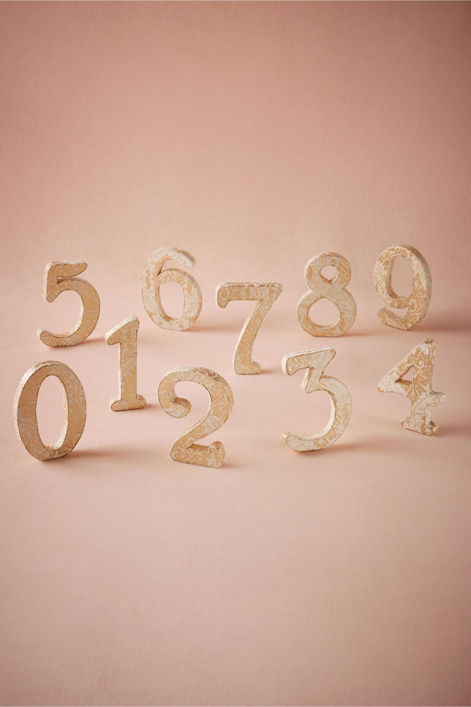 Gold Dressmaker Numbers Bhldn