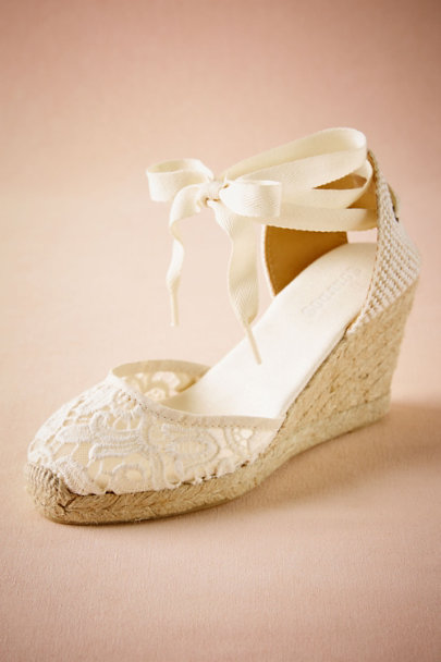 Soludos Ivory Judith Lace Wedge | BHLDN