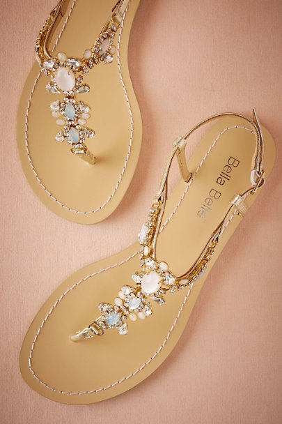 Bella Belle Gold Bella Belle Tulum Sandals | BHLDN
