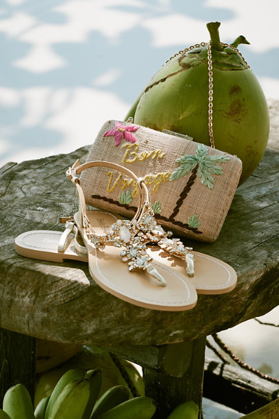 Bella Belle Gold Tulum Sandals | BHLDN